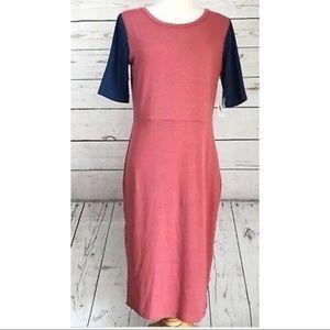 LuLaRoe Color Blocked Midi Dress